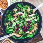 Chicken Spinach Salad with Pomegranate