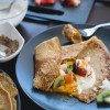 Gluten Free Crepes with Fruit & Cashew Coconut Cream