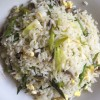 Leek and Mushroom Fried Rice
