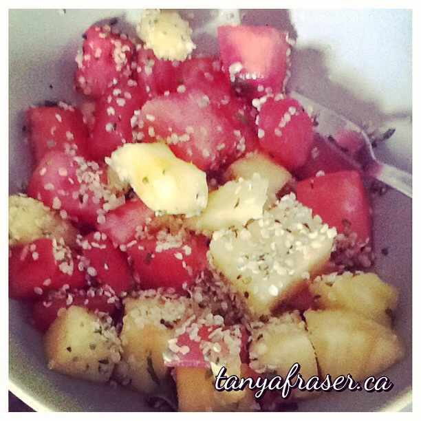 Pineapple Watermelon Mint Salad