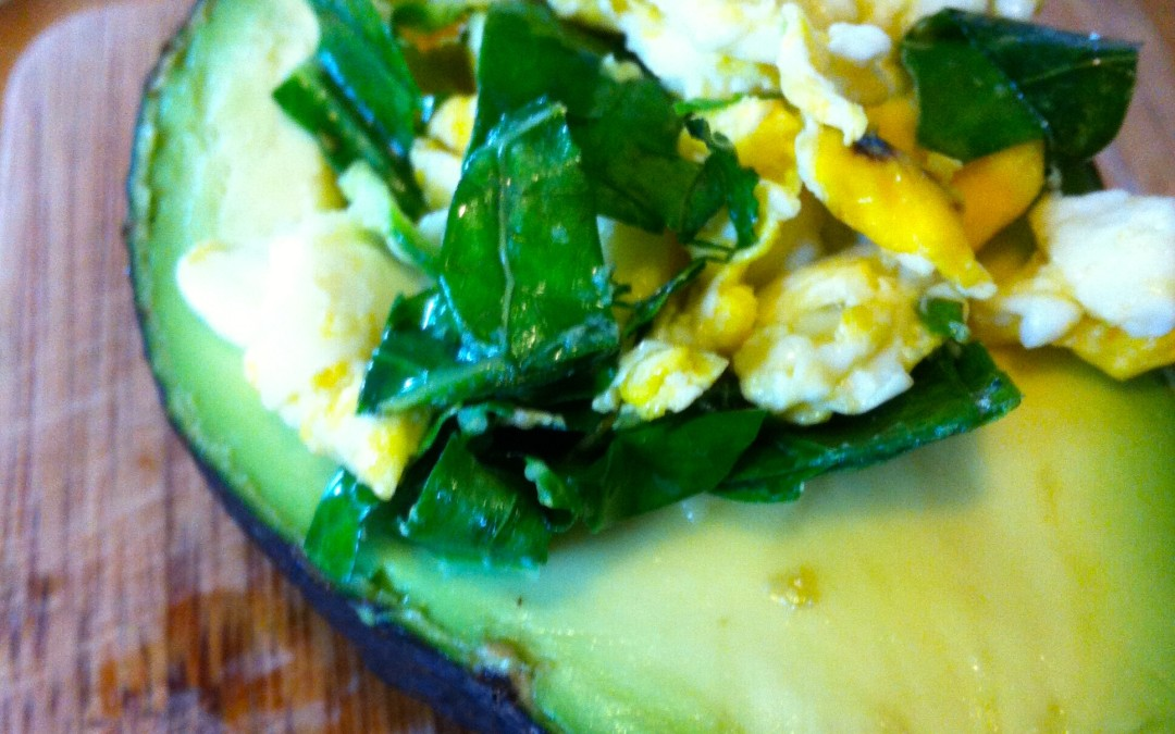 Egg and Greens in Avocado